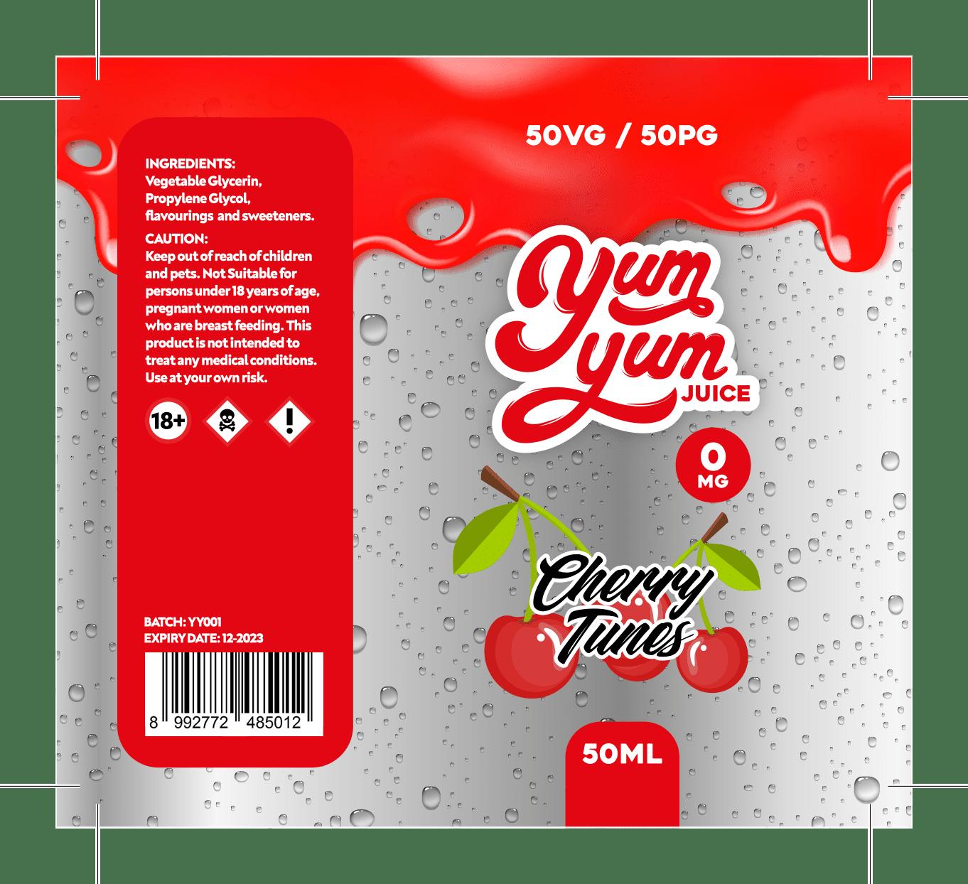 Yum Yum Labels - Cherry Tunes